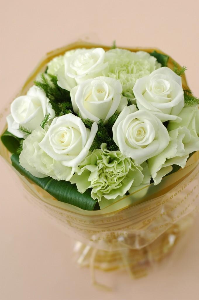 薔薇がいっぱい!ローズマジカルブーケ【ホワイト系】