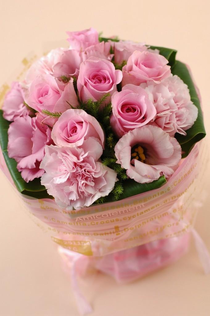 薔薇がいっぱい!ローズマジカルブーケ【ピンク系】