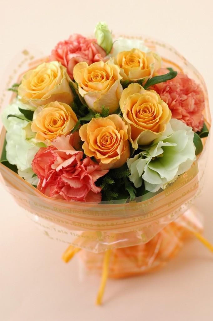 薔薇がいっぱい!ローズマジカルブーケ【オレンジ系】