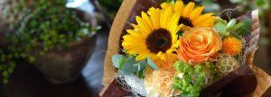 夏の花贈りに、元気色の花、爽やかな花を!