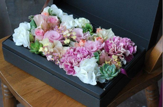 箱に入った花 フラボックス