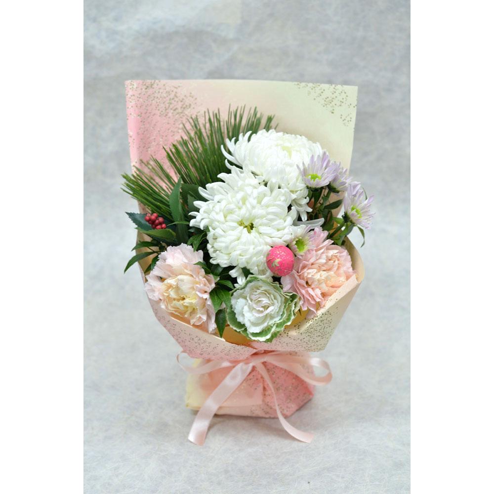 【生花迎春マジカルブーケ】錦(にしき)ホワイト
